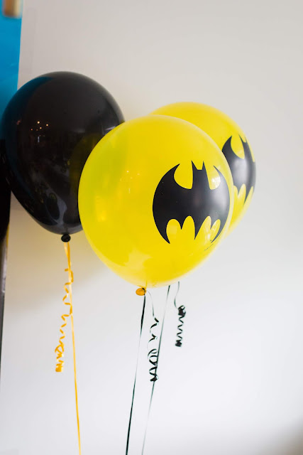 Batman Balloons at a batman party