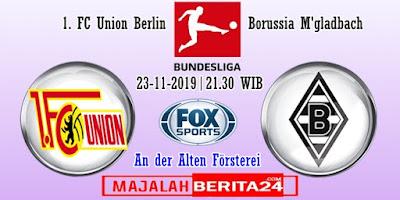 Prediksi Union Berlin vs Borussia M'gladbach — 23 November 2019