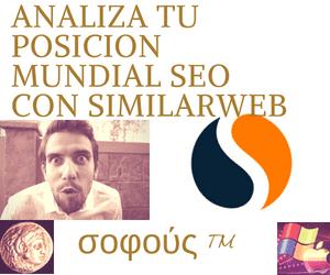 analiza la posición mundial con la herramienta tool de SimilarWeb y haz crecer tu blog.