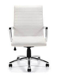Offices To Go White Leather Conference Chair