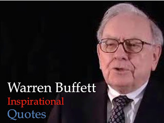 Picture Depicts Warren Buffett of Berkshire Hathaway's Inspirational Quoates