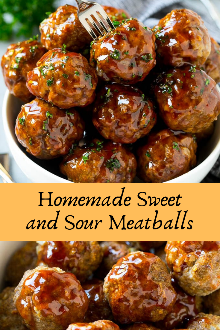 Homemade Sweet and Sour Meatballs