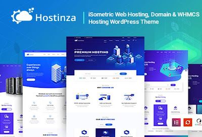 Hostinza V.1.9.0- Isometric Domain & Whmcs Web Hosting WordPress Theme