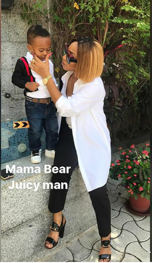 Tonto Dikeh and son are all shares of cute in new photo