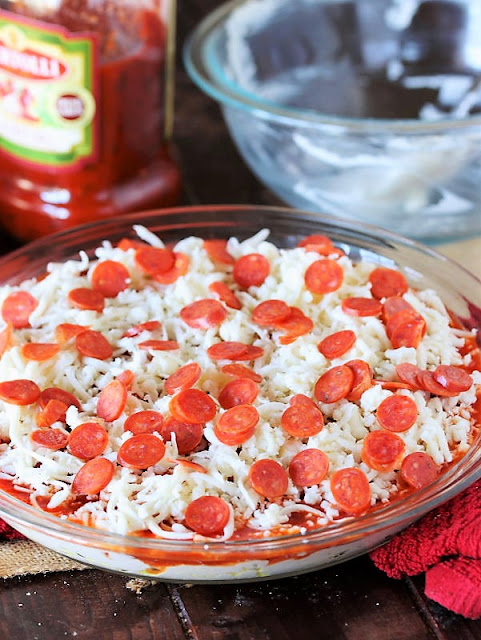 Baked Pizza Dip Ready to Bake Image