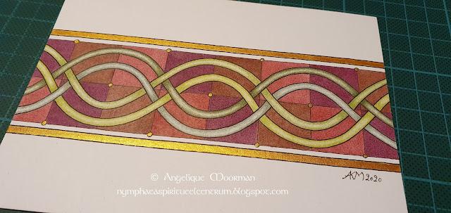 Lol in eenvoudige Keltische patronen op postkaarten