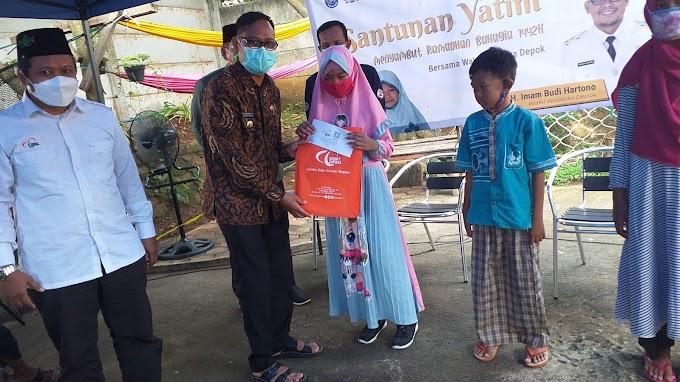 Santuni Yatim, Wakil Walikota Gandeng Zakat Sukses