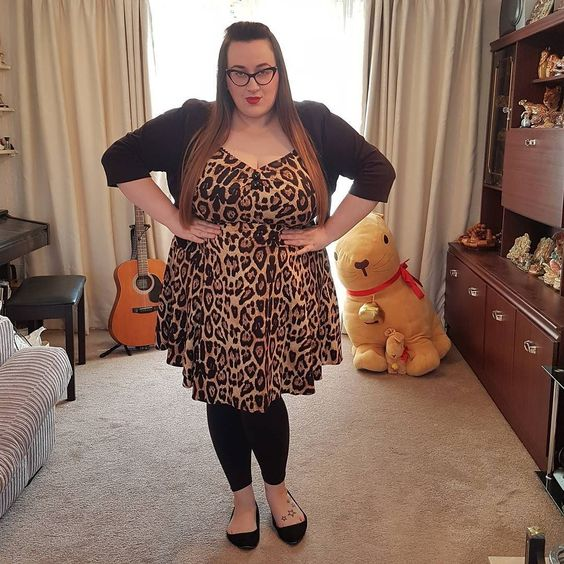 Collectif leopard print Mini Dolores plus size dress