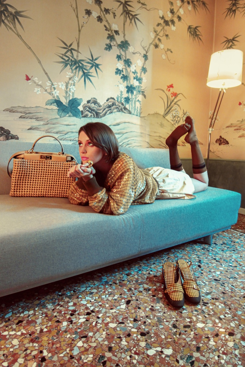 Iris Law stars in Fendi Peekaboo spring-summer 2020 campaign.