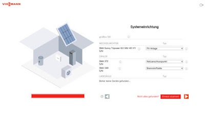 Vitovalor PT2 und PV Anlage in Gridbox erkannt