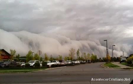 Nubes a ras de la tierra