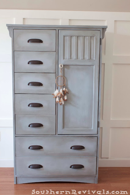A Wardrobe Chest of Drawers Furniture Makeover | Southern Revivals