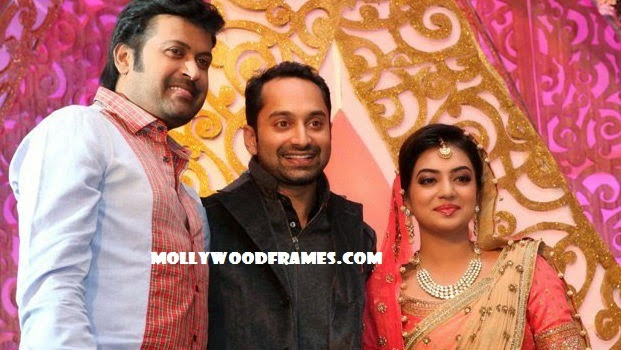 Manoj K Jayan @ Fahad-Nazriya reception photos