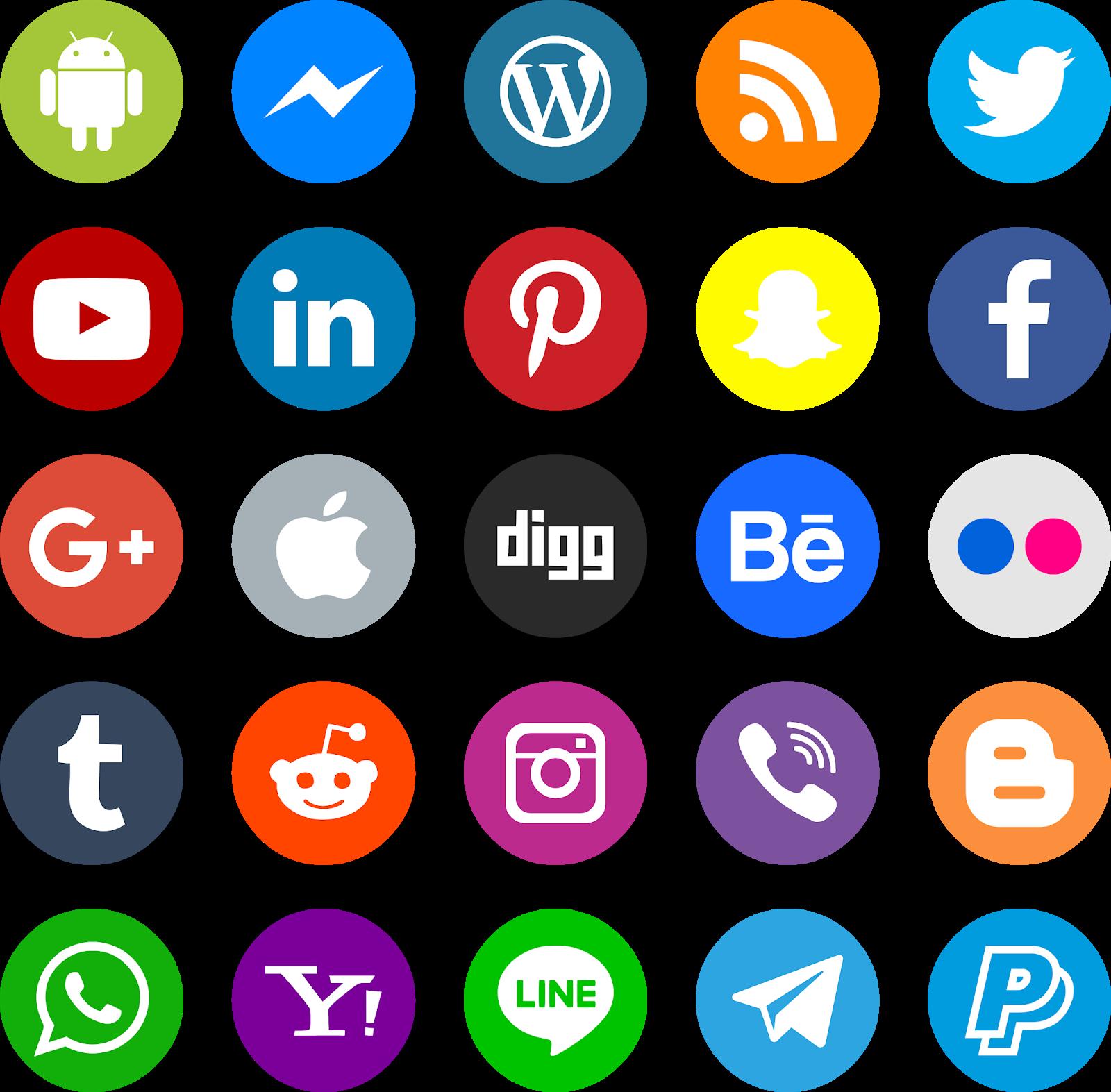 تحميل أيقونات مواقع التواصل الاجتماعي بصيغة Psd Png الصور