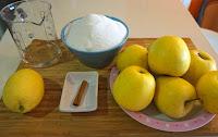 Dulce de manzan receta natural, casera y fácil.