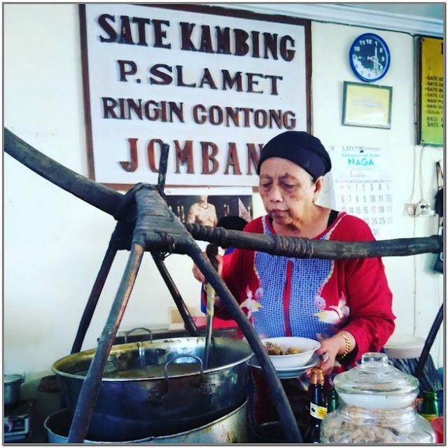 Sate Kambing Pak Slamet;10 Top Kuliner Jombang