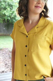 Mustard Yellow Camp Shirt // Willamette Wednesday // Sewing For Women // Hey June Willamette Shirt
