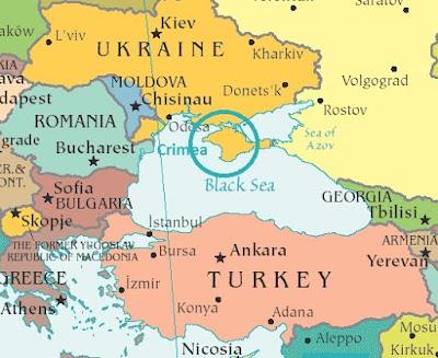 KIRIM harita. Ukrayna ve Rusya ve KIRIM