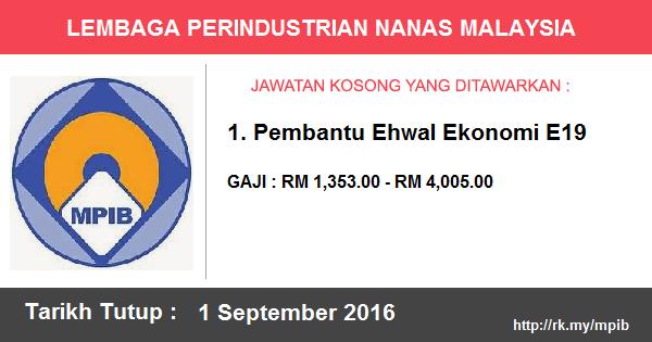 Jawatan Kosong di Lembaga Perindustrian Nanas Malaysia