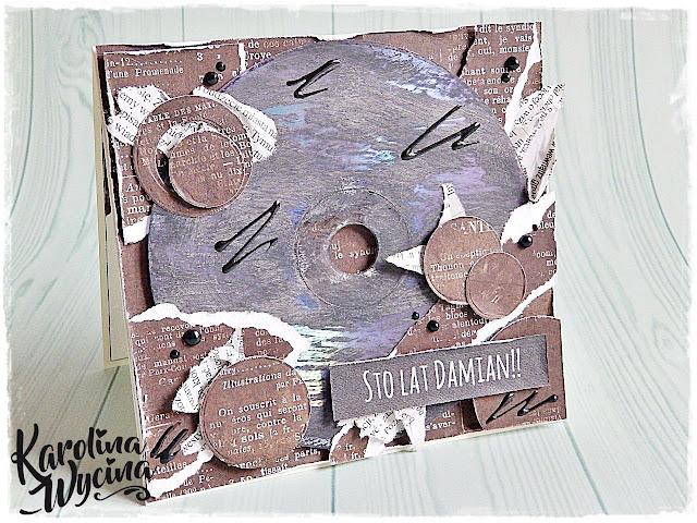 Lift mnie :) czyli z płytą CD kartka urodzinowa dla faceta