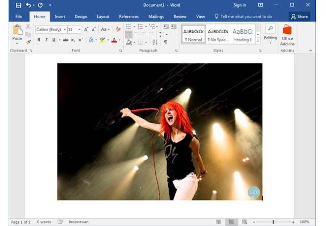 Insert Photo to Microsoft Word