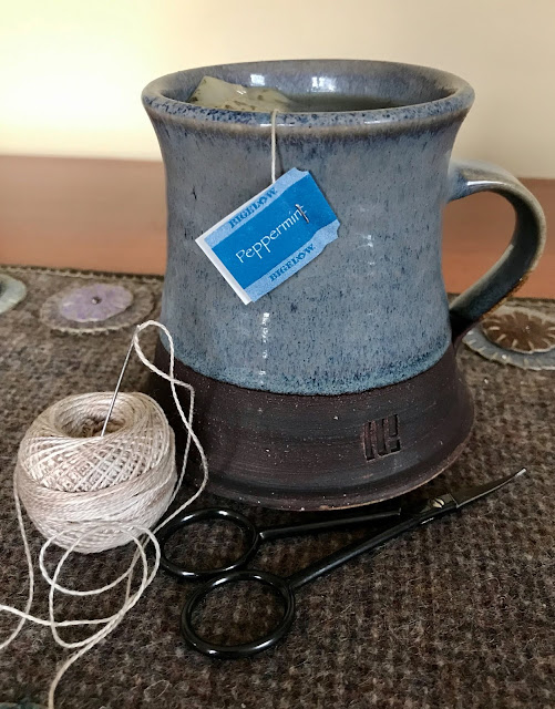 A Needle and Thread and tea in my favorite handmade mug...I'm ready 2020