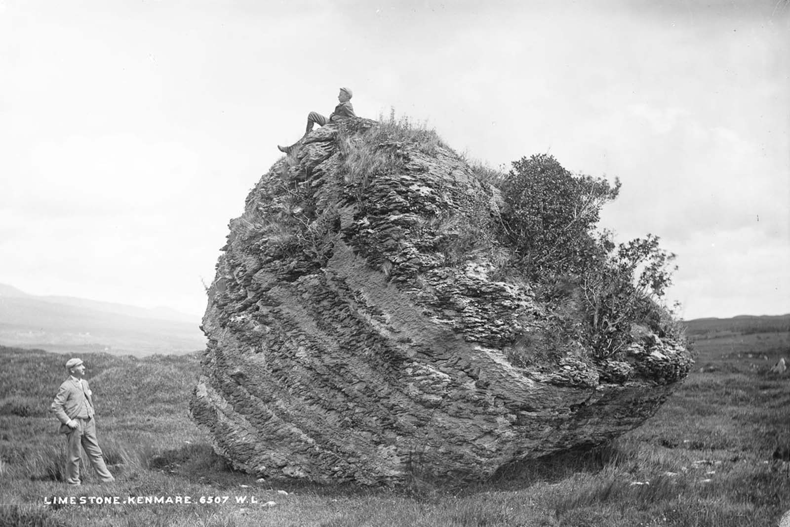 The Cloghvorra Stone, near Kenmare. 1890.