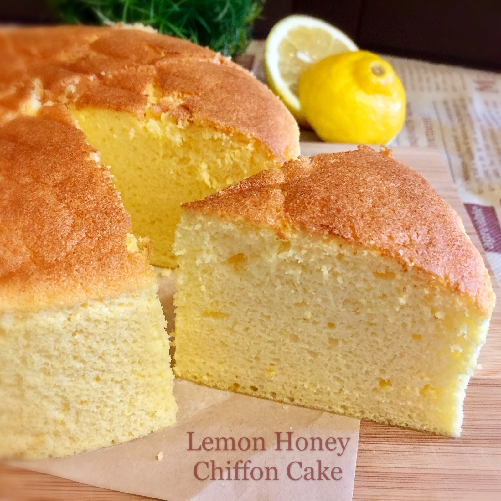My Mind Patch Lemon Honey Chiffon Cake 柠檬蜂蜜威风蛋糕