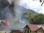 Sejumlah Rumah Hangus Terbakar di Sosor Nakka Sianjur Mulamula