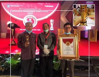 Samosir Terima Penghargaan Award sebagai Kabupaten Inovatif