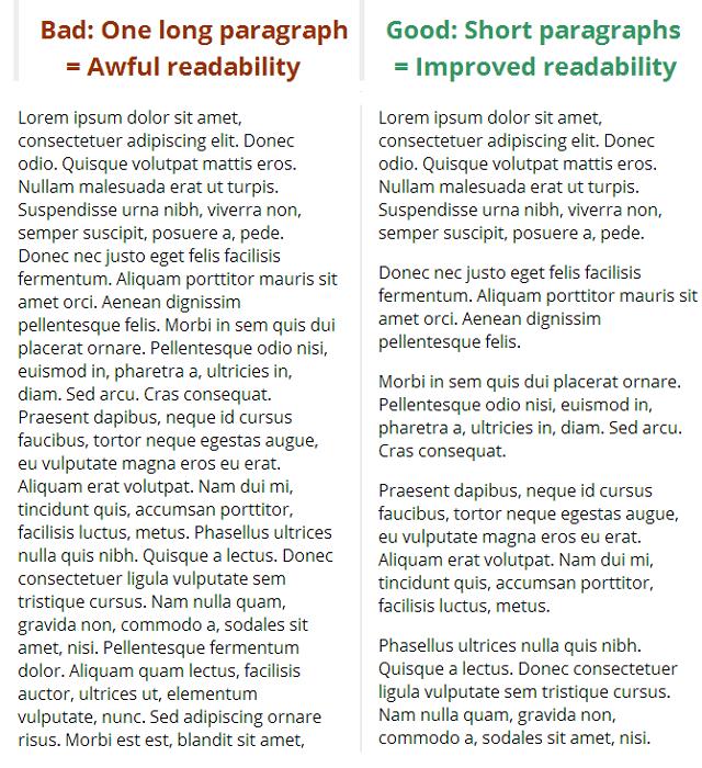 تحسين قابلية قراءة مدونة