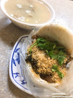 Comprehensive (half-fat and lean meat) Guabao  + Sishen comprehensive soup (pig intestine + pig belly)