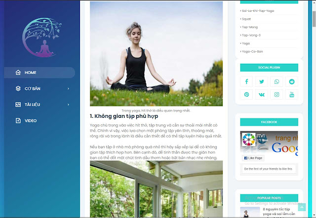 Mẫu website Yoga