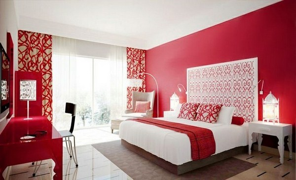 Red Bedroom Design A Great Charisma