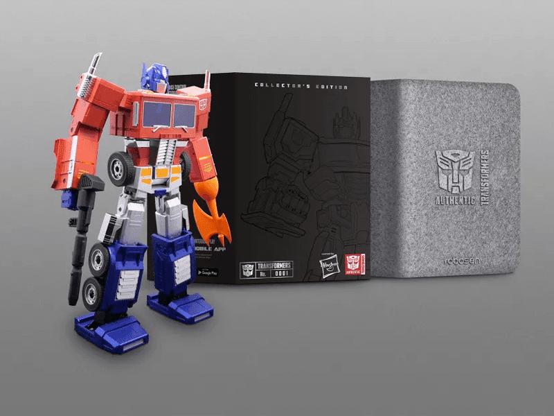 Hasbro and Robosen Optimus Prime TRANSFORMS by itself, sells for USD 700!