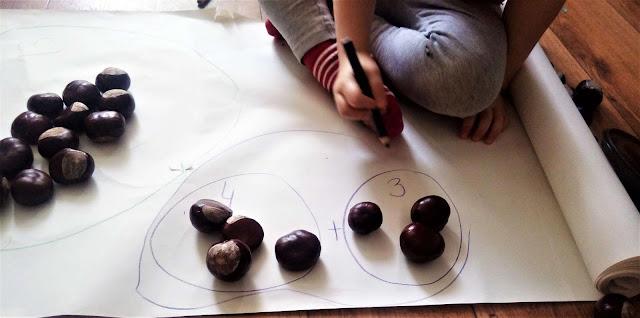 matematyka dla dzieci dodawanie na kasztanach pomysly na zabawy