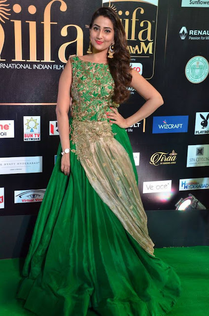 Anchor Manjusha Stills At IIFA Awards 2017
