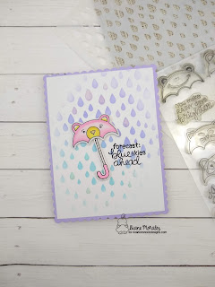 Blue Skys Again a card by Diene Morales using  Umbrella Pals Stamp Set by Newton's Nook Designs