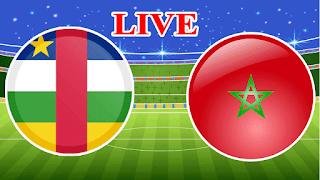 مشاهدة مباراة المغرب وافريقيا الوسطى ضمن مباريات اليوم تصفيات كأس امم افريقيا
