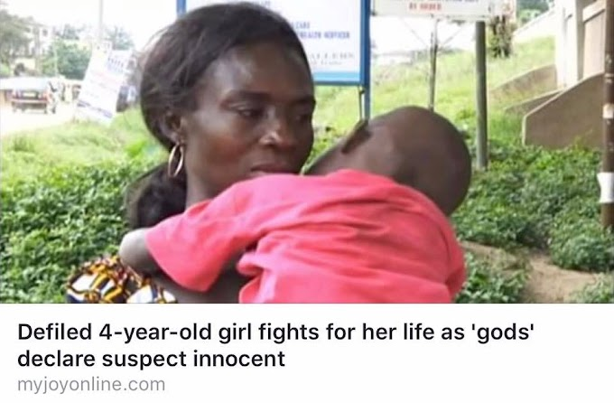 Anita Erskine calls on Akufo Addo, IGP and Director of CID to help save a defiled 4-year-old girl who is fighting for her life as 'gods' declare suspect innocent