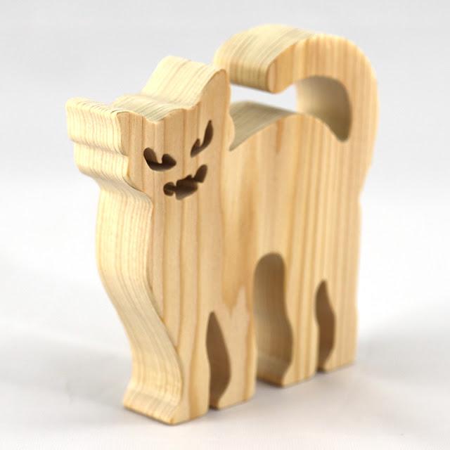 Handmade Halloween Cat Cutout - Evil Hissing Cat