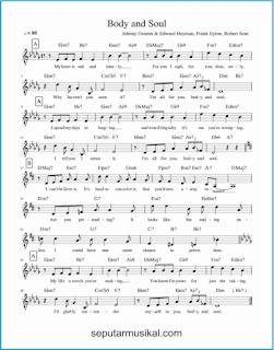 chord body and soul lagu jazz standar