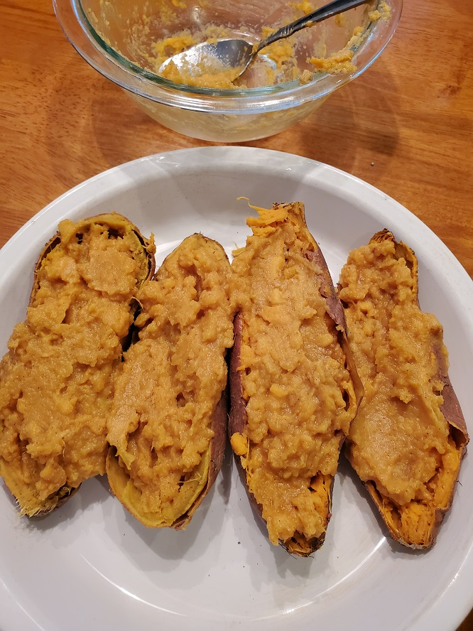 these are filling sweet potatoes twice baked jackets