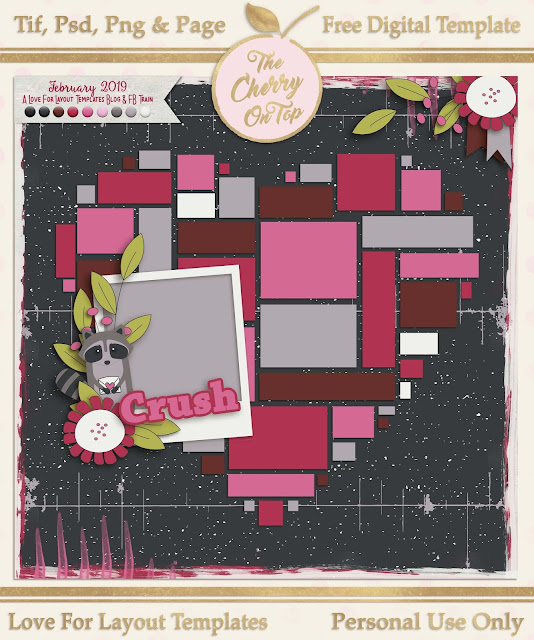 Love For Layout Templates Blog Train for April Means Dozens of Free Digital Scrapbooking Templates