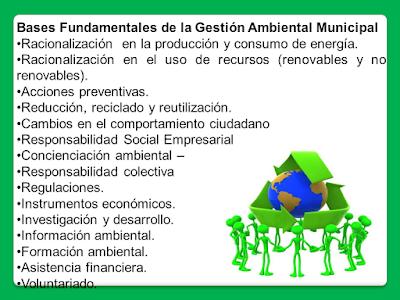 Bases Fundamentales de la Gestión Ambiental Municipal