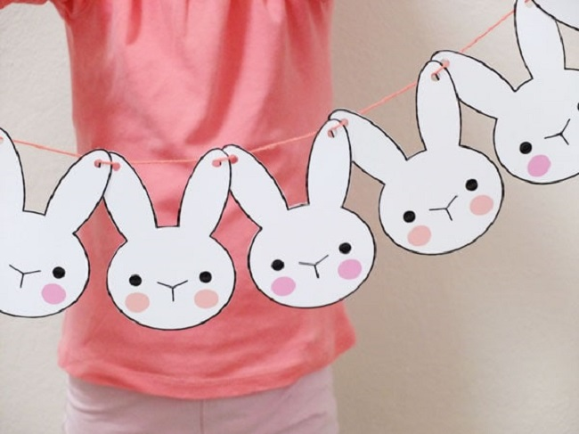 free bunny bunting template