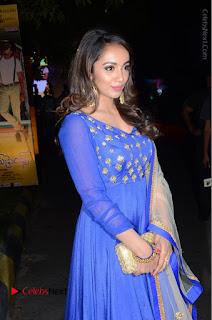 Telugu Actress Tejaswi Madivada Pos in Blue Long Dress at Nanna Nenu Na Boyfriends Audio Launch  0055.JPG