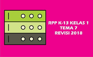 Download Gratis RPP Kelas I Tema 7 K 13 Revisi 2018