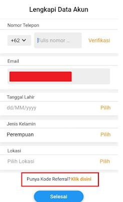 Cara Menambahkan Kode Refferal di Yummy App by IDN Media