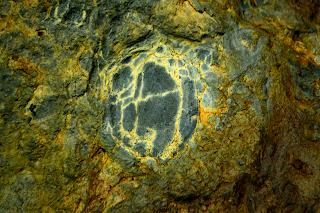 unusual marked rock found in Rio Viejo